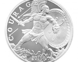 Courage silver round 99.9% pure silver one ounce