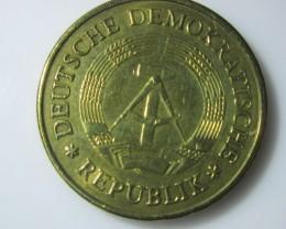 1969 Twenty Pfenning Brass coin German Democratic RepublicJ2205