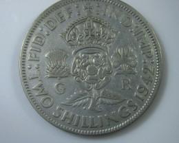 1942 George V1 silver 500   j 2208