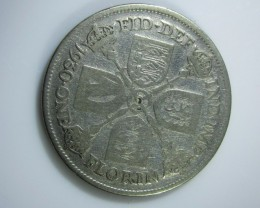 George V shilling silver 500 silver coin  j2209