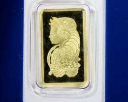 2.5 gram Gold bar - PAMP Lady Fortuna minted 99.99