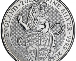 2 ounce 2016 Queens Beats - Lions  .999 pure silver