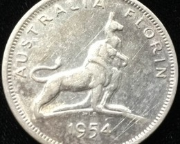 Australian One Florin silver coin  CO 2305