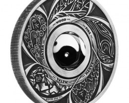 2016 Yin Yang antique silver rotating 1 ounce coin