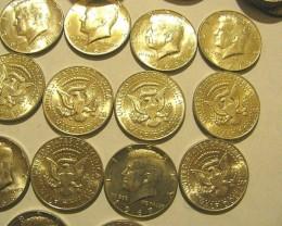 Kennedy Half Dollars 40% Silver 4-X-$19.00