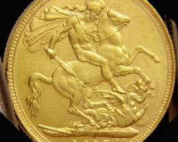 S1917 Full Gold Sovereign  K GEORGE CO2319
