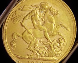 P1913  Full Gold Sovereign  GEORGE V CO 2323