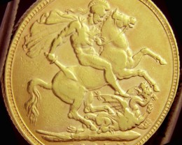 Full Gold Sovereign P1905 EDWARD CO2325