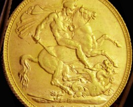 P1908 Full Gold Sovereign  EDWARD VII CO2326