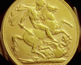 P 1910 Full Gold Sovereign  EDWARD VII CO2327
