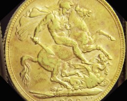 P1909  Full Gold Sovereign EDWARD VII CO2328