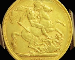 M1895 Full Gold Sovereign  VICTORIA CO2329