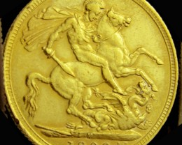 M1909 Full Gold Sovereign  EDWARD VII CO2335