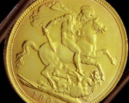 M1907 Full Gold Sovereign EDWARD VII CO2336