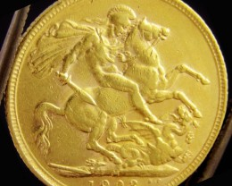 M1903 Full Gold Sovereign  EDWARD VII CO2337