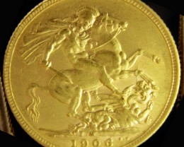 M1906 Full Gold Sovereign  EDWARD VII CO2338