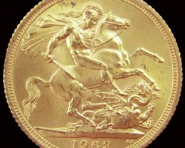 1963 Full Gold Sovereign Queen Elizabeth II CO2344