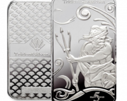 5 ounce assay certified Trident silver bar .999 silver
