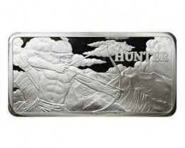 10 ounce the hunter silver bar 99.9% silver