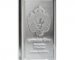 Ten  ounce Scottsdale osilver bar 99.9% silver