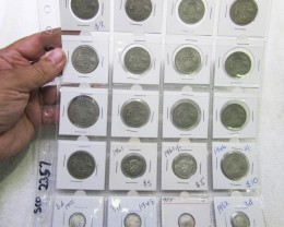 20 x  Mix  POST1946 silver coins Co2357