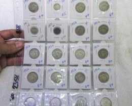 20 x  Mix  POST1946 silver coins Co2358