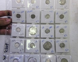 20 x  Mix  POST1946 silver coins Co2359