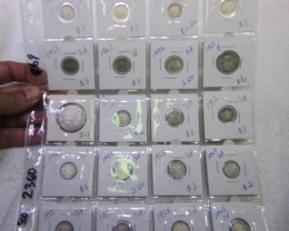 20 x  Mix  POST1946 silver coins Co2360