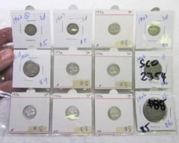 Mix  PRE 1946 silver coins Co2354