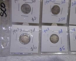 20 Mix  PRE 1946 silver coins Co2355