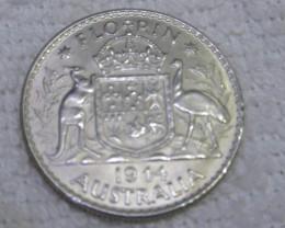 1944 FLORIN UNC  silver coins Co2351