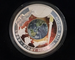 1969 - First Man On The Moon 2009 Silver Proof 'Orbital'