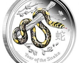 Lunar Series II 2013 Year of the Snake 1oz Silver Coloured
