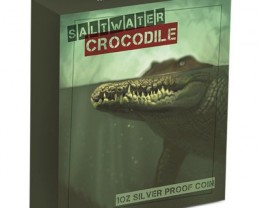 2015 Proof Salt water crocodile One  Ounce Silver Coin