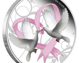 2011 FOREVER LOVE  1/2OZ SILVER PROOF COIN