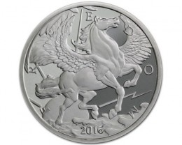 Pegasus Round 2016 99.9% pure silver one ounce