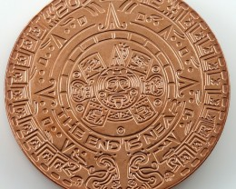 One  Ounce Aztec end is near 2012  .999 pure copper RT 590
