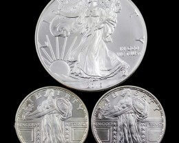 Walking liberty/Liberty Collectors parcel  deal 3 xPure Silver 99.9%
