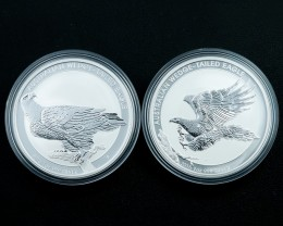 two rare Wedge tail eagle coins Collectors parcel  deal Pure Silver 99.9%