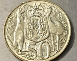 Populat 1966 50 cents 925 Silver coin   J 2505