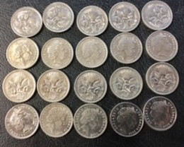 RAM parcel 20  x 5 cent coins 2006        J 2012