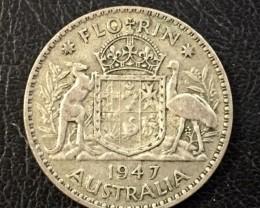 Florin 925 silver coin ,Nice condition   J 2061