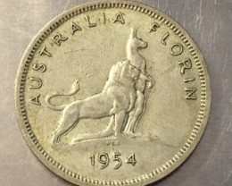 1954 Florin 500 silver coin ,Nice condition   J 2019