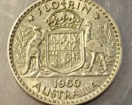1960  Florin 500 silver coin ,Nice condition   J 2023