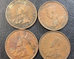 Parcel Four King George  One Pennies    J 2024