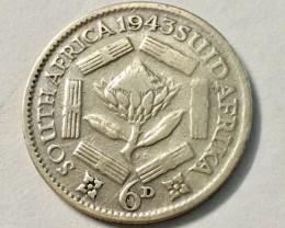 6 Pence - George VI  800 silver J 2036