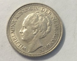 Netherlands Kingdom 25 cents 0.640 silver J 2040