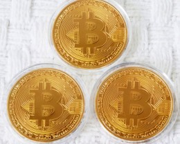 three Bitcoin in Capsule Gift Art Collection