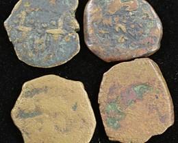 Four Biblical Coin Janenaeus Period in Display box SU760