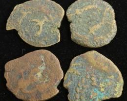 Four Biblical Coin Janenaeus Period  in display box SU761